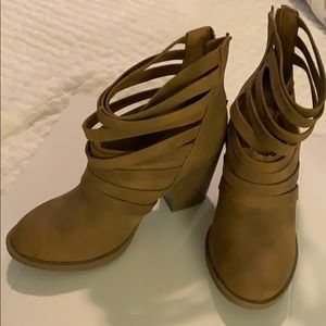 Altar'd State tan strappy boots